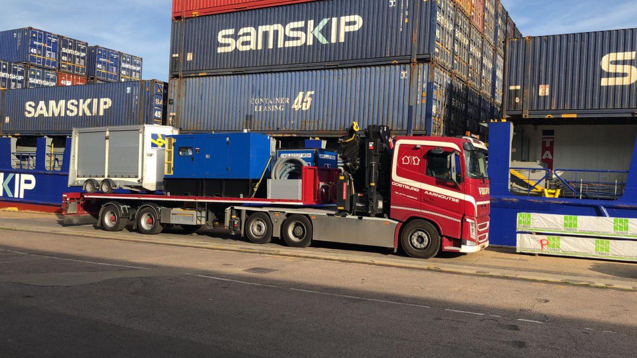 Aarnoutse transport voor spoedopdracht in offshore naar Engeland