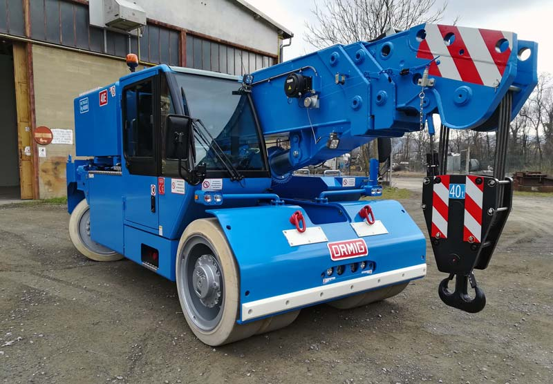 Aarnoutse Transport investeert in volledig elektrische ORMIG Pick & Carry kraan