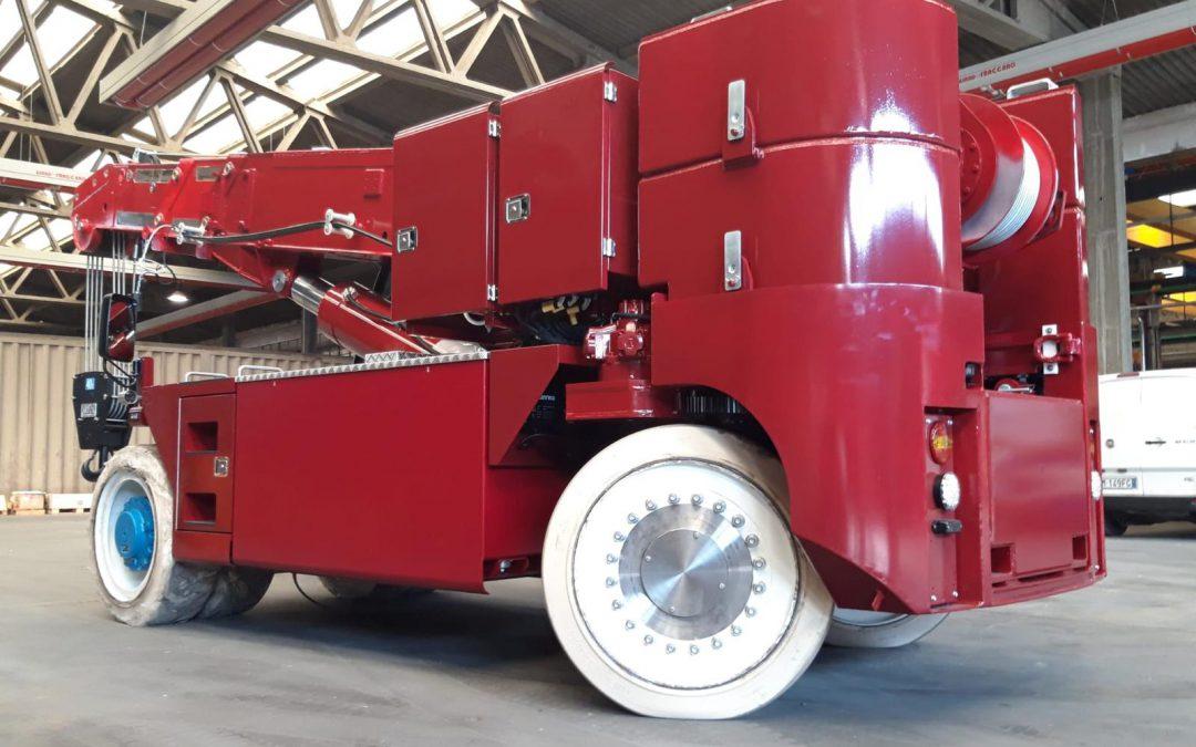 Aarnoutse Transport investeert in volledig elektrische ORMIG Pick & Carry kraan
