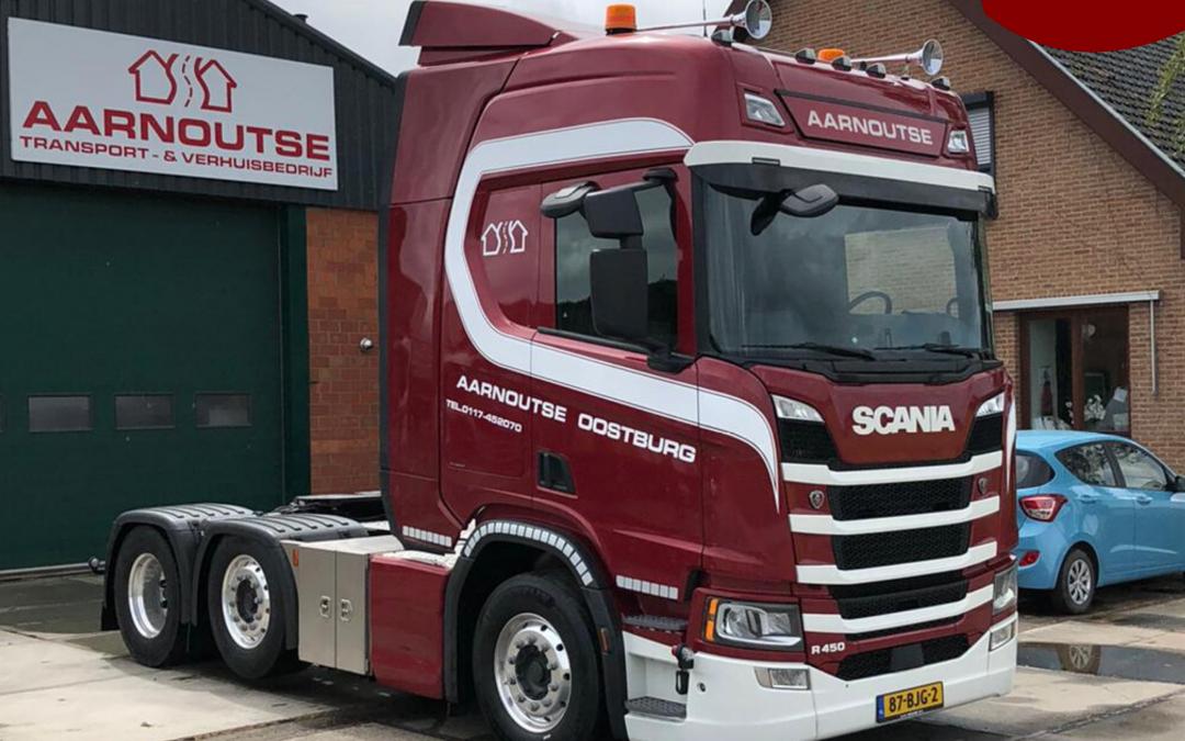 Scania R450 trekker afgeleverd bij Aarnoutse Transport