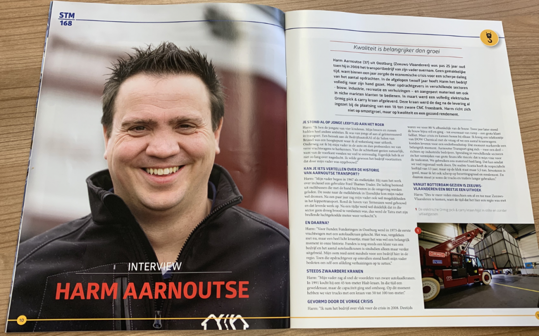 Interview in Speciaal Transport Magazine