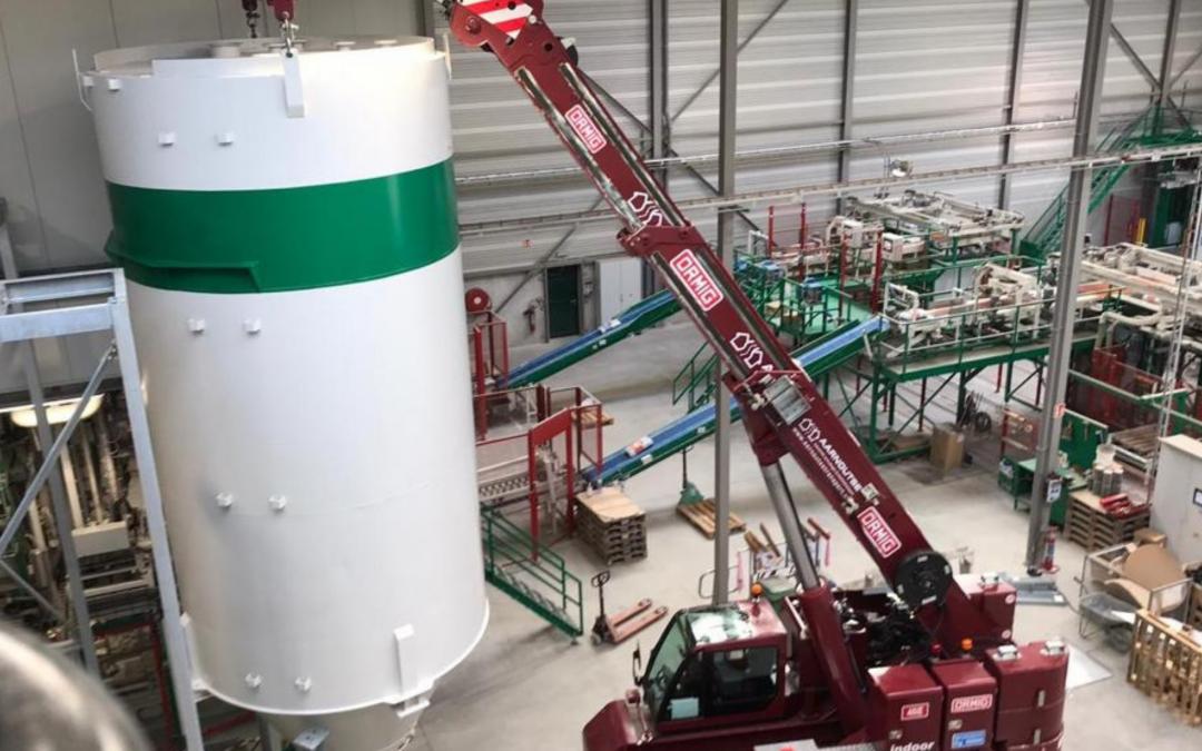 Project: Plaatsing silo in betonfabriek