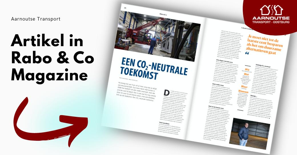 Artikel in Rabobank magazine over een CO2 neutrale toekomst